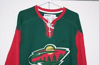 CCM Minnesota Wild Sewn Hockey Jersey Multi Green NHL Cotton Men Large L Parise