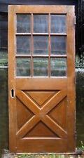 """36""""x80""""x1.75 34; Vintage Antique Solid Wood Wooden Exterior Entry Door Window Glass"""