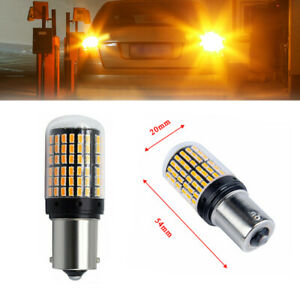 1piece BAU15S 1156 Turn Signal Light PY21W 144SMD Canbus No Error Led Light Lamp