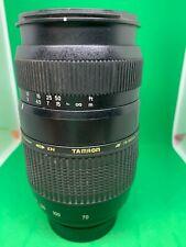 Tamron AF 70-300mm F4-5.6 LD DI Tele Macro Zoom Lens Nikon Rear Caps (RSPCA)