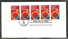 US SC #  3315 Prostate Cancer Awareness  FDC. Strip Of 5 .Uncacheted