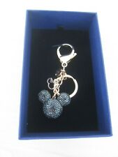 BRAND NEW MICKEY MOUSE IN SWAROVSKI BLACK CRYSTALS WITH ROSE GOLD KEYRING