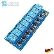 8-Kanal 12V Relais Modul mit Optokoppler für u.a. Arduino (8Ch Active-Low)