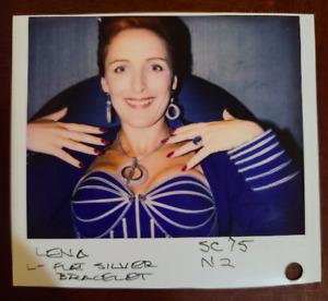 SUPER MARIO BROS Movie Original FIONA SHAW Wardrobe Photo, LENA, BLUE DRESS