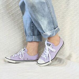 Ladies lavender Converse Size 39