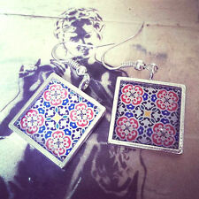 Unique Espagnol Floral Tile Boucles d'oreilles TRADITIONNEL ESPAGNE MAROC MEXIQUE Alhambra