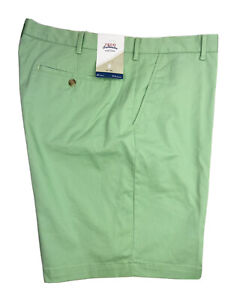 Izod Saltwater Mens Shorts Relaxed Classic Meadow Green Flat Ctn Poly Spndx NEW