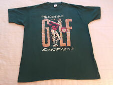 The Woods Golf Equipment T Shirt XL EUC Green Made in USA Vintage Club Bag VTG