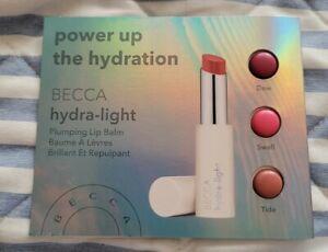 BECCA Hydra-Light Shades - Dew, Swell & Tide Plumping Lip Balm Card Samples NEW