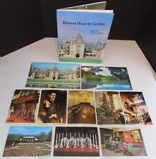 Lot Of 11 - Vintage Biltmore House And Gardens Postcards & Book - Asheville NC