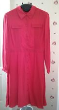Boden vintage style red shirt dress 16 r
