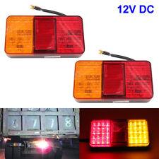 2x LED Rear Tail Lights Lamps Lorry Truck Trailer Caravan Bus Motorhome 12V