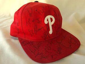 1995 Phillies Team Autographed Hat Cap
