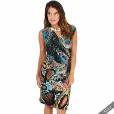 Polyester V-Neck Casual Dresses Midi