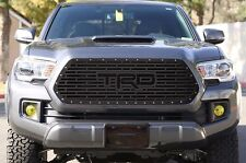 "Custom Steel Aftermarket Grille Kit for 2016-17 Toyota Tacoma ""TRD"" Grill BLACK"