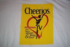 Cheerios Make Health A Habit For Your Heart Body & Soul Cereal T-Shirt Adult XL