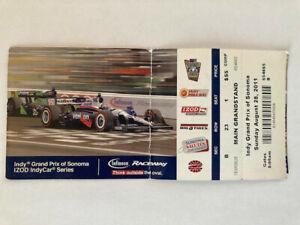 Indy Grand Prix of Sonoma Ca. FULL Ticket 2011