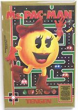 "Ms. Pac-Man Nintendo NES Vintage Game Box  2""x3"" Fridge Locker MAGNET Tengen"