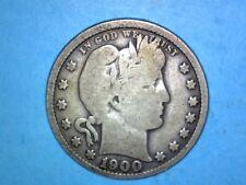 Barber Quarter - 1900 - KM# 114 - 0.900 Silver - Wing Tip Even w/ Top of E
