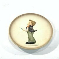 Vintage Hummel plate # 743 Little Music Makers Boy Singing 4 inch 3rd in series