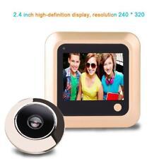 """2.4"""" Video Cam Door Viewer Smart Peephole 145° Doorbell Home Security Anti-Theft"""