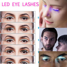 LED Light Up False Eyelashes Luminous Fashion Lashes Pair Fake Eye Lash Party
