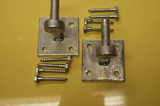 """gate hooks on 4"""" plate heavy duty and galvanised  pack of 4 with fittings"""