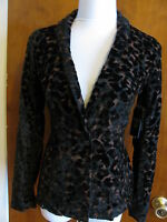Guess women's lisa leopard velour evening blazer Size 4