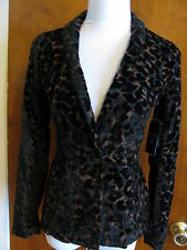 Guess women's lisa leopard velour evening blazer Size 4 retail value $138 NWT