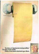 Publicité Advertising 1973 Le Papier toilette Hygiénique Scottex
