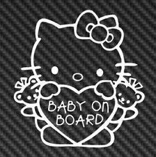 Hello Kitty Baby On Board Bow Sanrio Vinyl Sticker Decal Cute Car Window Truck