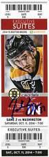 Patrice Bergeron Boston Bruins Signed Autographed 2014 Capital Suite Ticket - S3