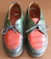 Rohde Blue Red Green leather Lace up Flat shoes size 5 (38)