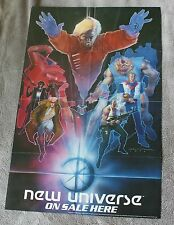 New Universe 1986 Bill Sienkiewicz Painted Art Gruenwald Marvel PROMO Poster VF