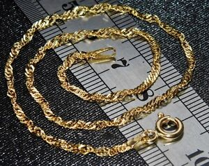 9CT GOLD 10 inch FANCY ANKLET / ANKLE BRACELET - UK Hallmarked