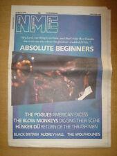 NME 1986 MAR 22 DAVID BOWIE POGUES BLOW MONKEYS HUSKER