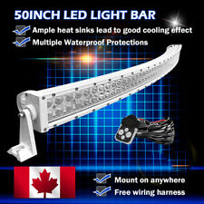 50inch Curved White LED Light Bar Combo  Flood Spot Work Lamp Offroad SUV 52