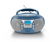 Karcher RR 5025-C tragbarer CD Player - UKW Radio - AUX-In - Blau / Silber