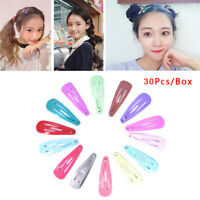 30Pcs/Box Girl Hairpin BB Snap Hair Clips Snap Barrette Hairpin Hair Accessor Yf
