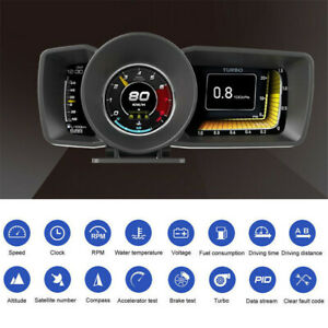 Car Dashboard GPS Display Head-Up Digital Gauges Alarm KMH/MPH OBD2 Speedometer