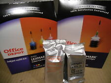 Lot of 1 Black &  1 Color Lexmark  Ink Jet Refill Kits And #20 & #70 Cartridges