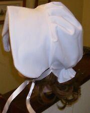 ADULT  VICTORIAN STYLE BONNET / HAT WHITE LARP HAT