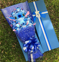 Creative Bunch of 11 Lilo Stitch flowers Plush Doll Toys Box Birthday Day Gift