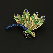 GOLD PLATED & ENAMELLED BROOCH OF A DRAGONFLY - FREE UK P&P.....CG0588