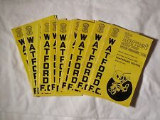 Watford FC 'The Hornet Express' Programmes x 12 - [1970 -1972. Division 2].