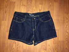 "Old Navy The Flirt 3.5"" Denim Shorts Dark Blue Stretch Women's Size 10"