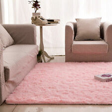 4' x 5' Soft Living Room Carpet Shag Rug for  Dining Bedroom Children Play Pink