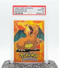 PSA 10 CHARIZARD GEM MINT Topps Movie Edition E6 1999 Pokemon Card RARE!
