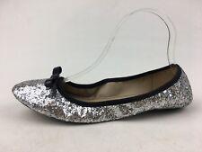 Kate Spade New York Catcher Ballet Flats Size 8M, Silver Glitter 1282