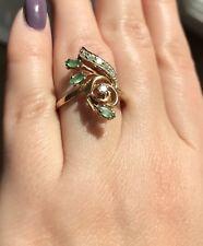 Ring Goldring Gold 585 Brillant Smaragd 59 Damenring Brillanten Diamanten 14K 19